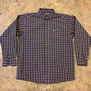 ARIAT PRO SERIES Men's Medium Vented Plaid Shirt